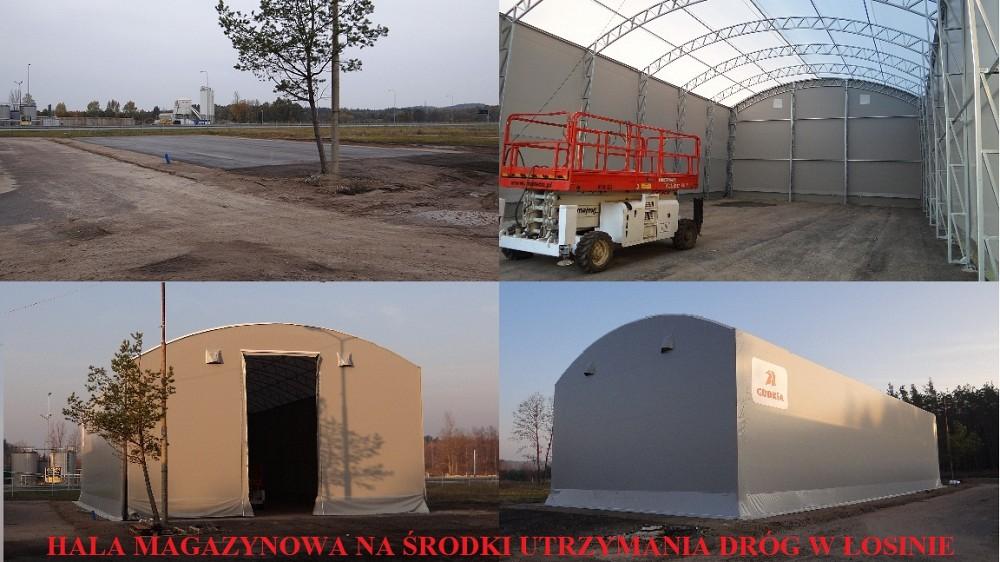 Hala magazynowa na środki utrzymania dróg w Łosinie