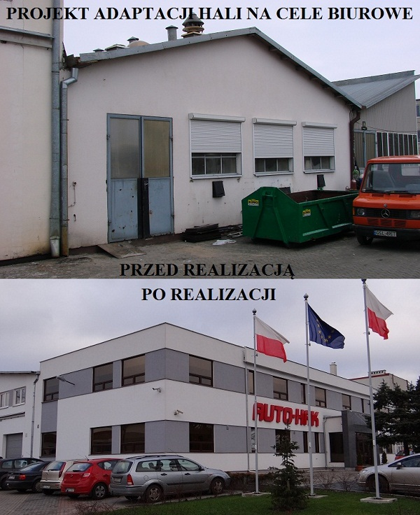 Adaptacja hali na cele biurowe - ul. Słoneczna, Słupsk