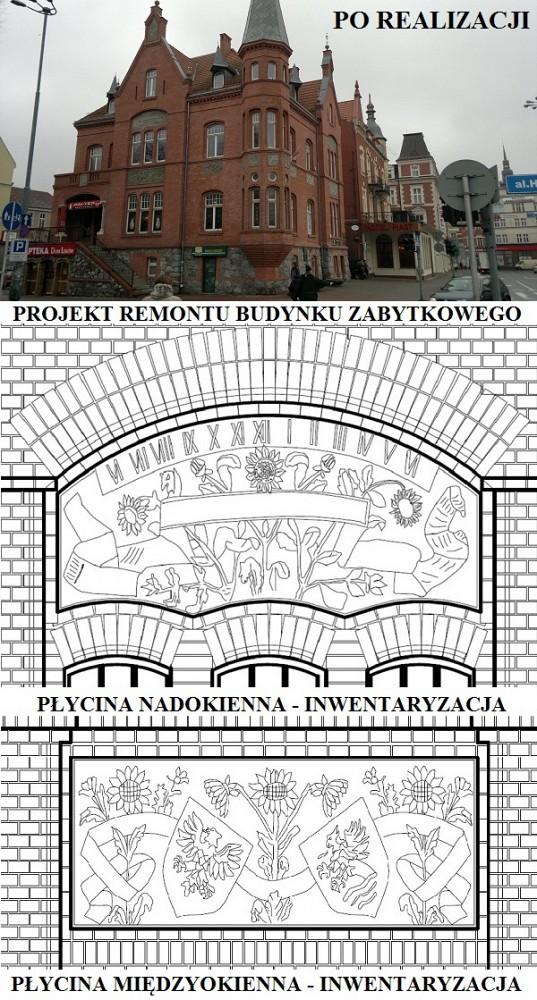 Remont budynku zabytkowego - ul. Jedności Narodowej, Słupsk